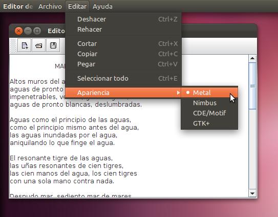 Java y Appmenu de Ubuntu